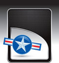 Air force icon on black checkered background Stock Photography