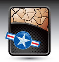 Air force icon on bronze cracked backdrop Stock Images