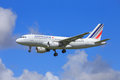 Air france airbus a approaching to land Stock Photos