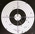 Air gun target and holes Royalty Free Stock Photo