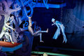 Air gymnasts perform in fancy musical show moscow jan for children through the looking glass swimming pool of sports complex Royalty Free Stock Images