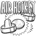 Air hockey sketch Stock Photography