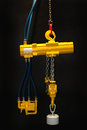 Air hoist pneumatic powered overhead crane Royalty Free Stock Photos