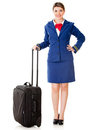 Air hostess ready to board Royalty Free Stock Photography