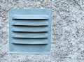 Air intake zinc plate for ventilation in residential building detail Royalty Free Stock Image