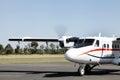 Air kenya at nanyuki airport october small aircraft airstrip on october laikipia Royalty Free Stock Photos