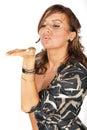 Air kiss Royalty Free Stock Photo