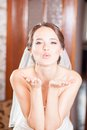 Air kiss the bride Royalty Free Stock Photo