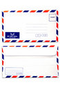 Air mail envelope isolated  white background Royalty Free Stock Photo