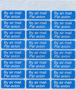 By air mail - par avion stamp sheet Stock Image