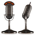 On the air old classic microphone white background easy to isolate Royalty Free Stock Photo