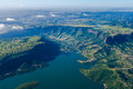 Air Photo Dam Landscape Royalty Free Stock Photo