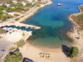 Air photograph agios ounoufrios beach chania crete greece aerial view of Royalty Free Stock Photo