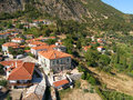 Air photograph aigio greece aerial view of Stock Images
