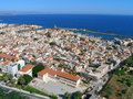 Air photograph chania city crete greece aerial view of Stock Photography