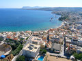 Air photograph chania city crete greece aerial view of Stock Photo