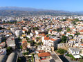 Air photograph chania city old town crete greece aerial view of Stock Photography