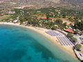 Air photograph marathi beach chania crete greece aerial view of Stock Photo