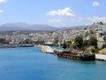 Air photograph sitia city greece aerial view of port crete Royalty Free Stock Photos