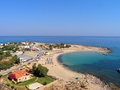 Air photograph stavros beach chania crete greece aerial view of Royalty Free Stock Photo