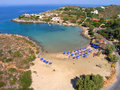 Air photograph tersanas beach chania crete greece aerial view of Stock Photo