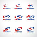 Air Plane Transportation cargo or shipping logo business vector Royalty Free Stock Photo