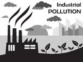 Air pollution of factory with chimneys against the sky vector illustration Stock Images