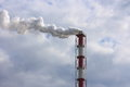 Air pollution and global warming stock photo smokestack of сhemical plant Stock Photo