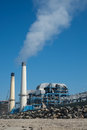 Air pollution from industrial plant Royalty Free Stock Photo