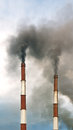 Air pollution from a smoke stack of industrial plant Stock Photography