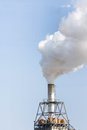 Air polution big from chimney Royalty Free Stock Photo
