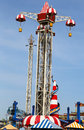 Air race ride in coney island luna park brooklyn new york april tower on april was destroyed by fire then Royalty Free Stock Image