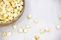 Air salty popcorn Royalty Free Stock Photo