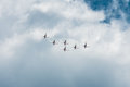 Air show radom august poland Royalty Free Stock Photography