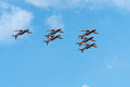 Air show radom august poland Royalty Free Stock Image
