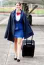 Air stewardess walking Stock Image