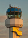 Air traffic control small tower as a symbol for holiday feeling Royalty Free Stock Photos