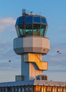 Air traffic control small tower as a symbol for holiday feeling Stock Photography