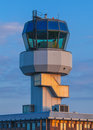 Air traffic control small tower as a symbol for holiday feeling Royalty Free Stock Photo