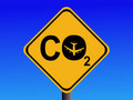 Air travel CO2 emissions Royalty Free Stock Photos