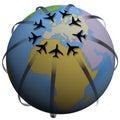 Air Travel Destination: Europe Stock Photos
