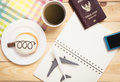 Air travel planner traveler object in table