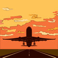 Air travel Vector illustration Background with colorful airplanes