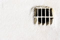 Air vent on white wall Royalty Free Stock Photo