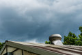 Air ventilator on the roof Royalty Free Stock Photo