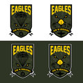 air warrriors army shields set vector design template Royalty Free Stock Photo