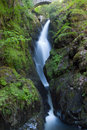 Aira Force Waterfall in the Lake District. England.
