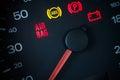 Airbag warning light. Royalty Free Stock Photo