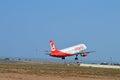 Airberlin reist von alicante flughafen ab Lizenzfreie Stockfotos