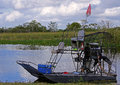 Airboat in the Florida Everglades Royalty Free Stock Photo